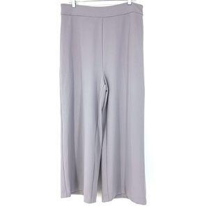 WAYF Sz XL Cropped Wide Leg Pants Blue Gray